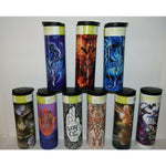 Travel mug cup Drink Bottle hot cold insulated stainless thermos coffee dragon