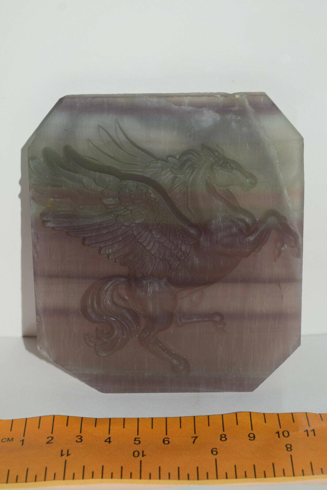 Rainbow Fluorite Pegasus carved polished Hand carved crystals winged horse