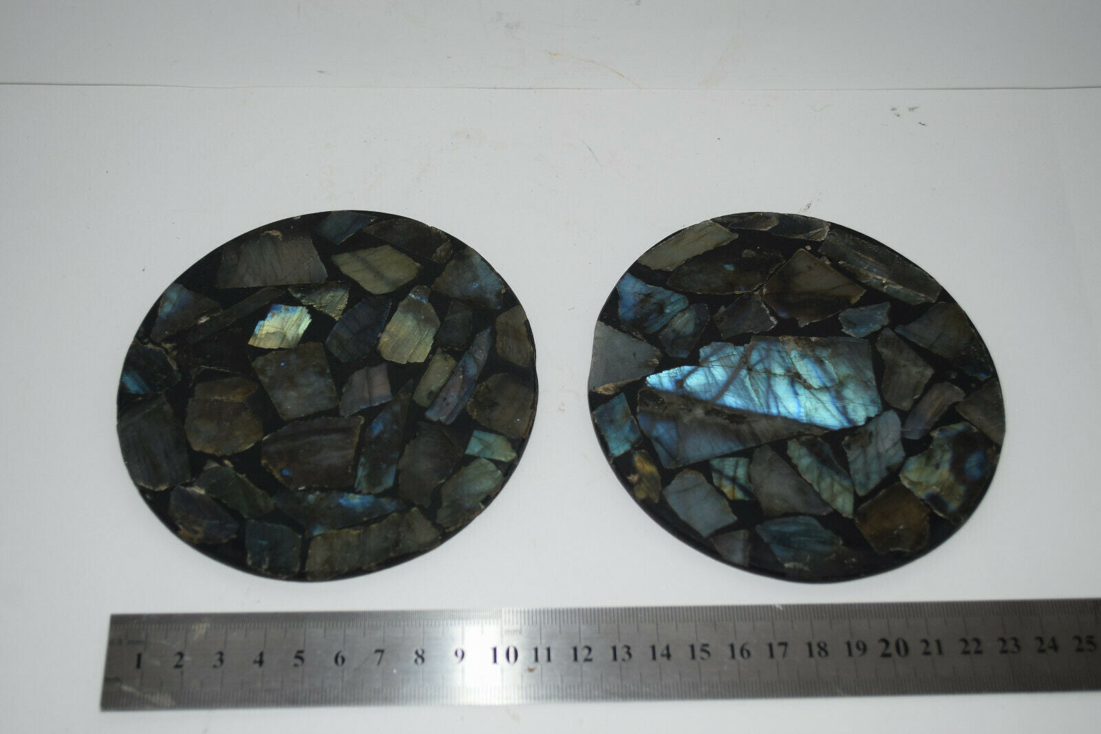 Labradorite Plate coaster gemstone crystal polished Natural pieces