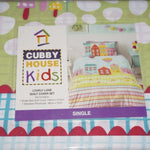 Kids Doona Cover Set Quilt bedding children's  bed single double House lane SALE