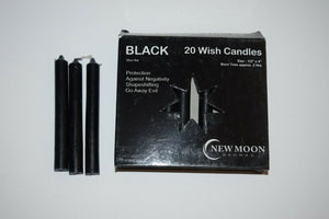 Chime candles 20 per box wish candles BULK New Moon black green purple 10cm x 1c