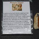 Picture Jasper pendant necklace gemstone earth mother messages