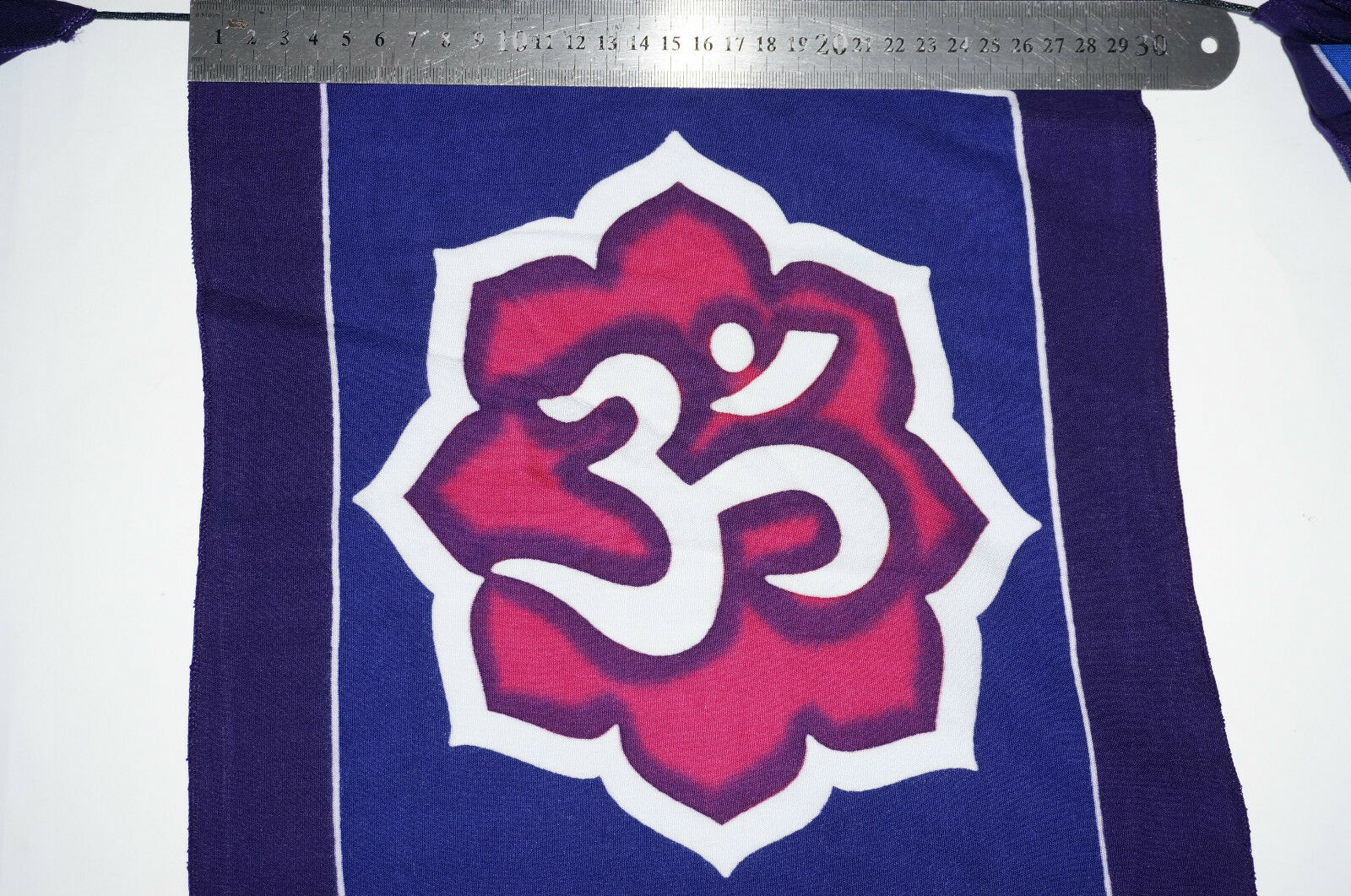 Yoga Prayer flag inspirational 7 Flags Nepal Peace huge 29cm x 34cm feng shui