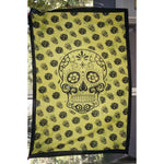 Throw Single Bed sheet cover wall hanging Table cloth Altar Art Candy skull gree