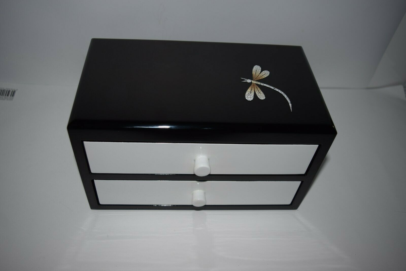 Jewellery Box Organizers Keepsake trinket Jewelry case ring drawers dragonfly