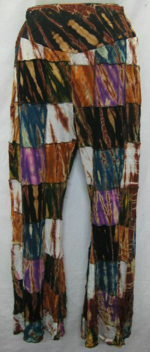 Womens Pants trouser Nepal Boho Bohemian Fashion Tie Dyed patch leggings