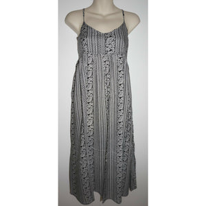 Dress Cotton Ladies womens 10-12 Black girls beach casual hippie Yoga Boho