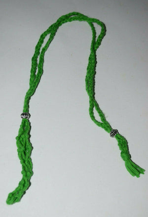 Macrame tumble stone Gemstone Holder Large Cotton Crystal Necklace Pouch singles