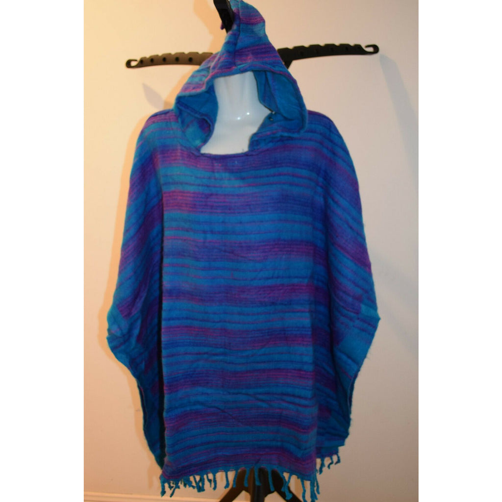Poncho top Shawl hippie boho ladies wrap Women handmade hill queen