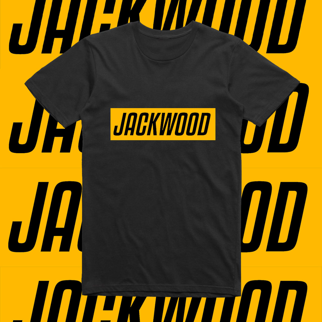 JACKWOOD SLOGAN-YELLOW AND BLACK