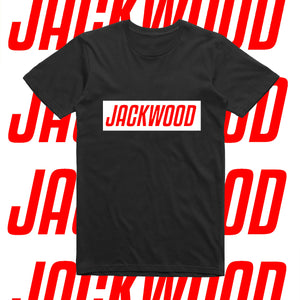 JACKWOOD SLOGAN-RED AND WHITE