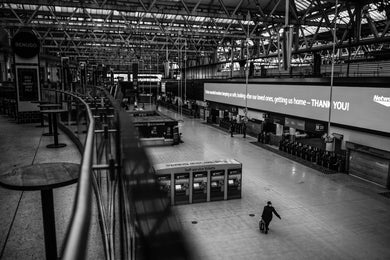 WATERLOO STATION - LUSTRE FUJI FILM - ART PRINT - FROM LONDON LOCKDOWN COLLECTIVE