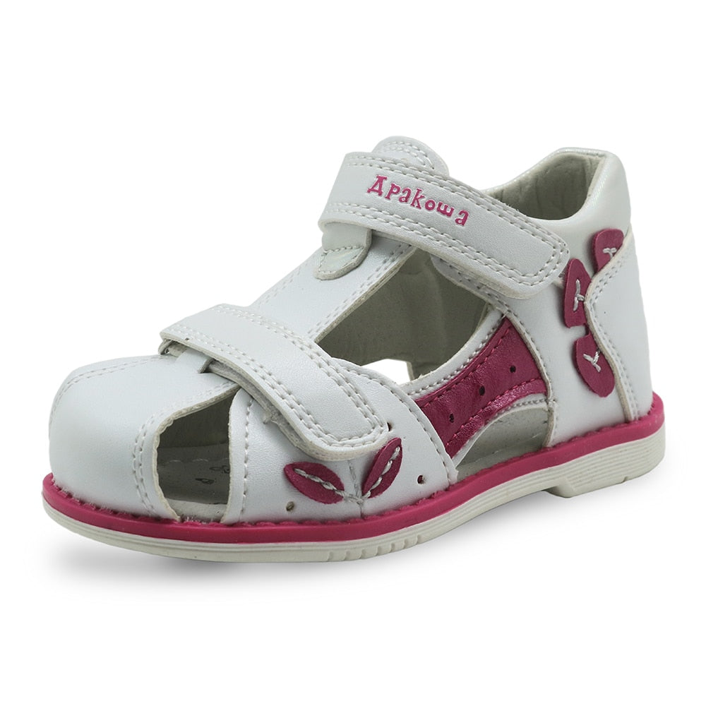 7b94485d8 Apakowa Brand New 2018 Girls Sandals Pu Leather Toddler Kids Shoes for Girls  Orthopedic Closed Toe