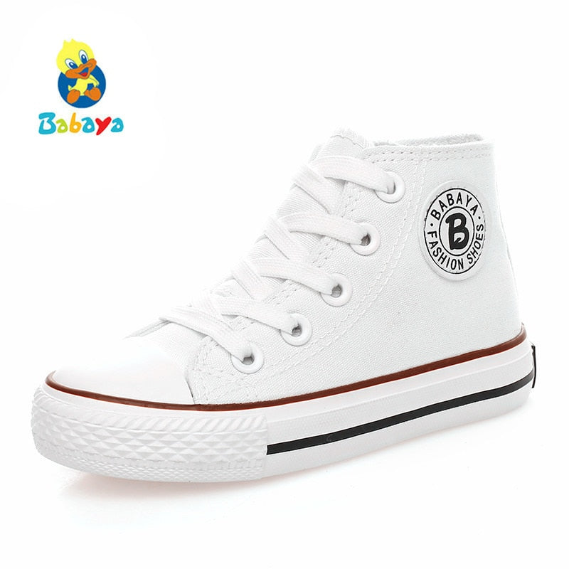 7db4aeae9 Kids shoes for girl children canvas shoes boys sneakers 2017 Spring autumn  girls shoes White High