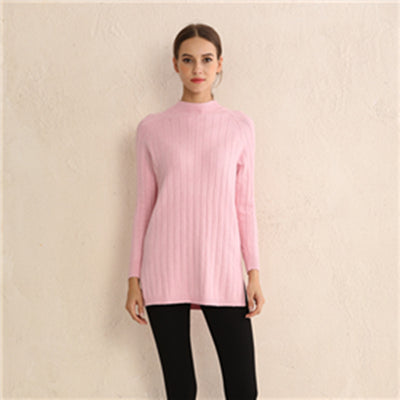 2018 Winter Solid color pit core yarn sweater