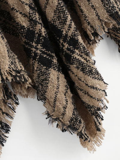 2018 Winte Irregular knitted pull-out shawl