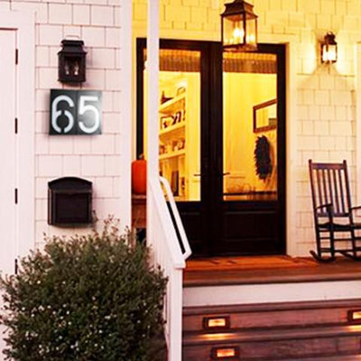Door Number 8,Solar Power LED Light Box with Address Numbers and Letters for Garden   Gate House Door Decoration  House Hotel Door Address and other   Meaningful Numbers