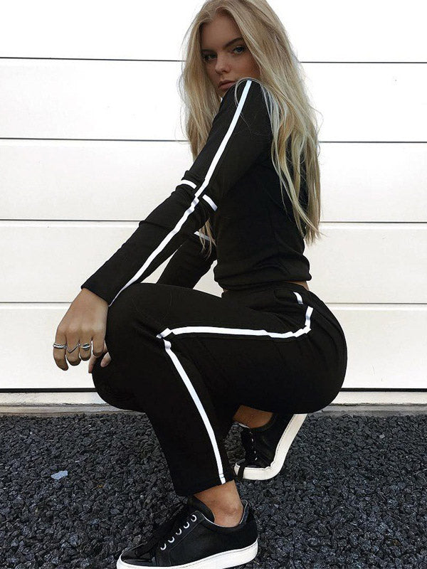 Two-piece Striped Yoga&Gym Suits