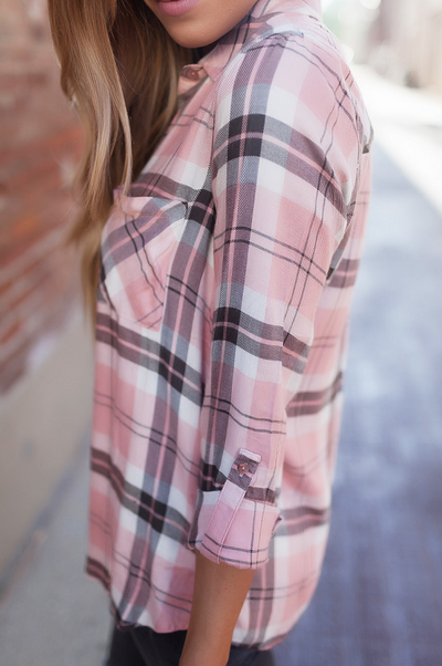 2018 spring Fashion plaid shirt