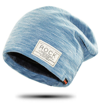 New Rock Wool Hip Hop Beanie Cap Baggy Winter Men Fleece Hat Skullies Beanies Knitted Caps Women Casual Knit Warm Cotton Hats