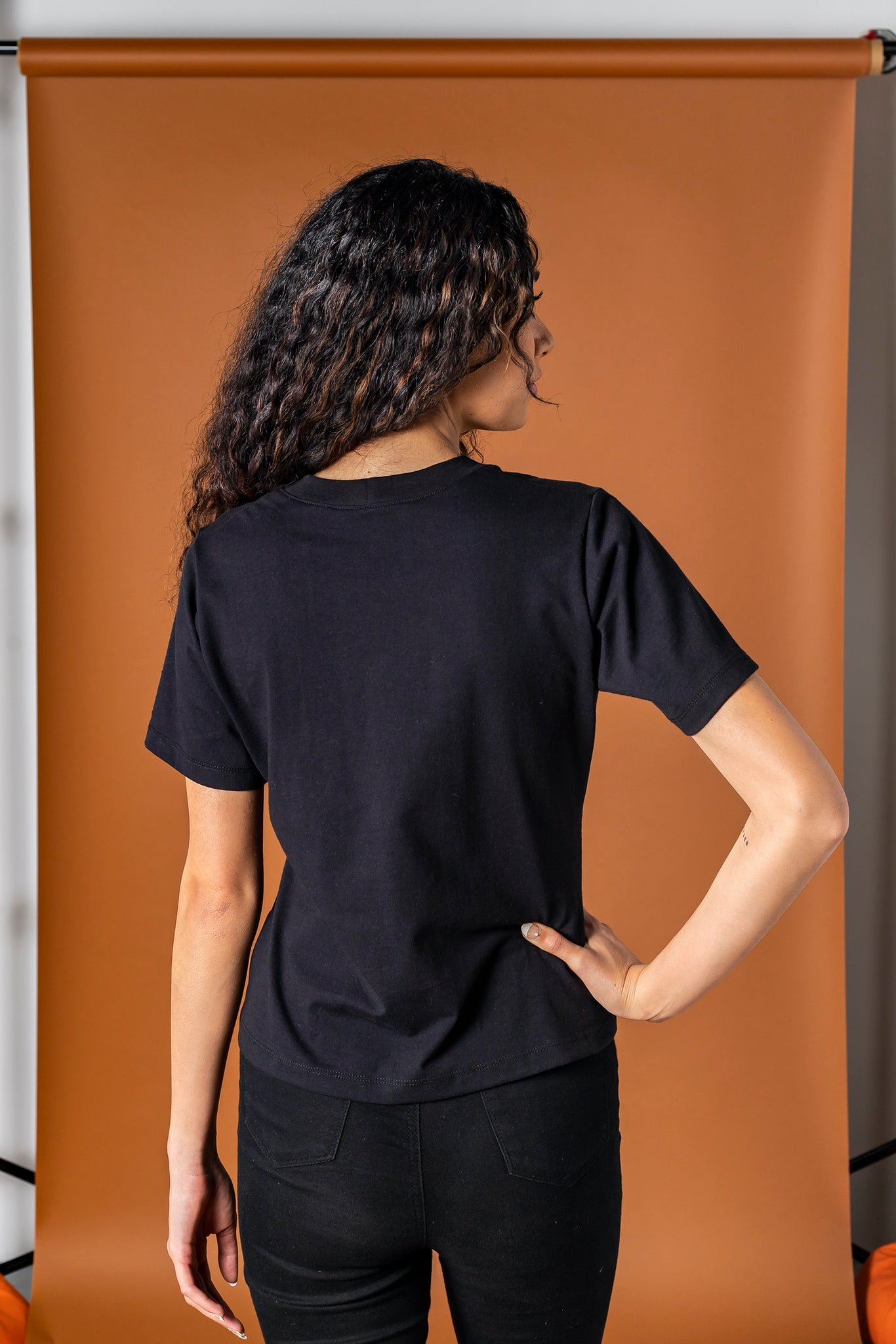 The Pleated Top - Black