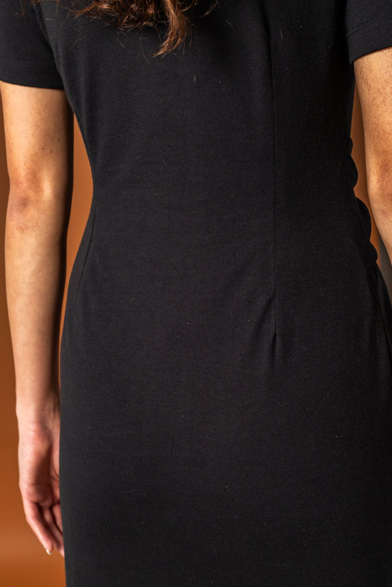 The Black Dress - Front Pleat
