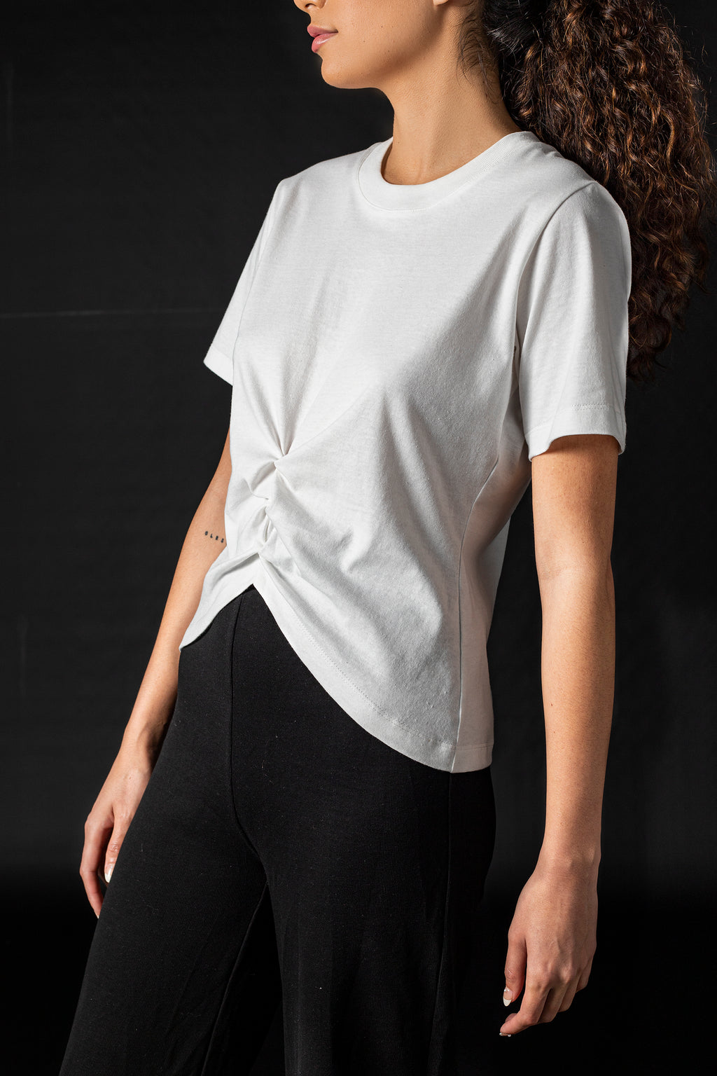 The Pleated Top - White