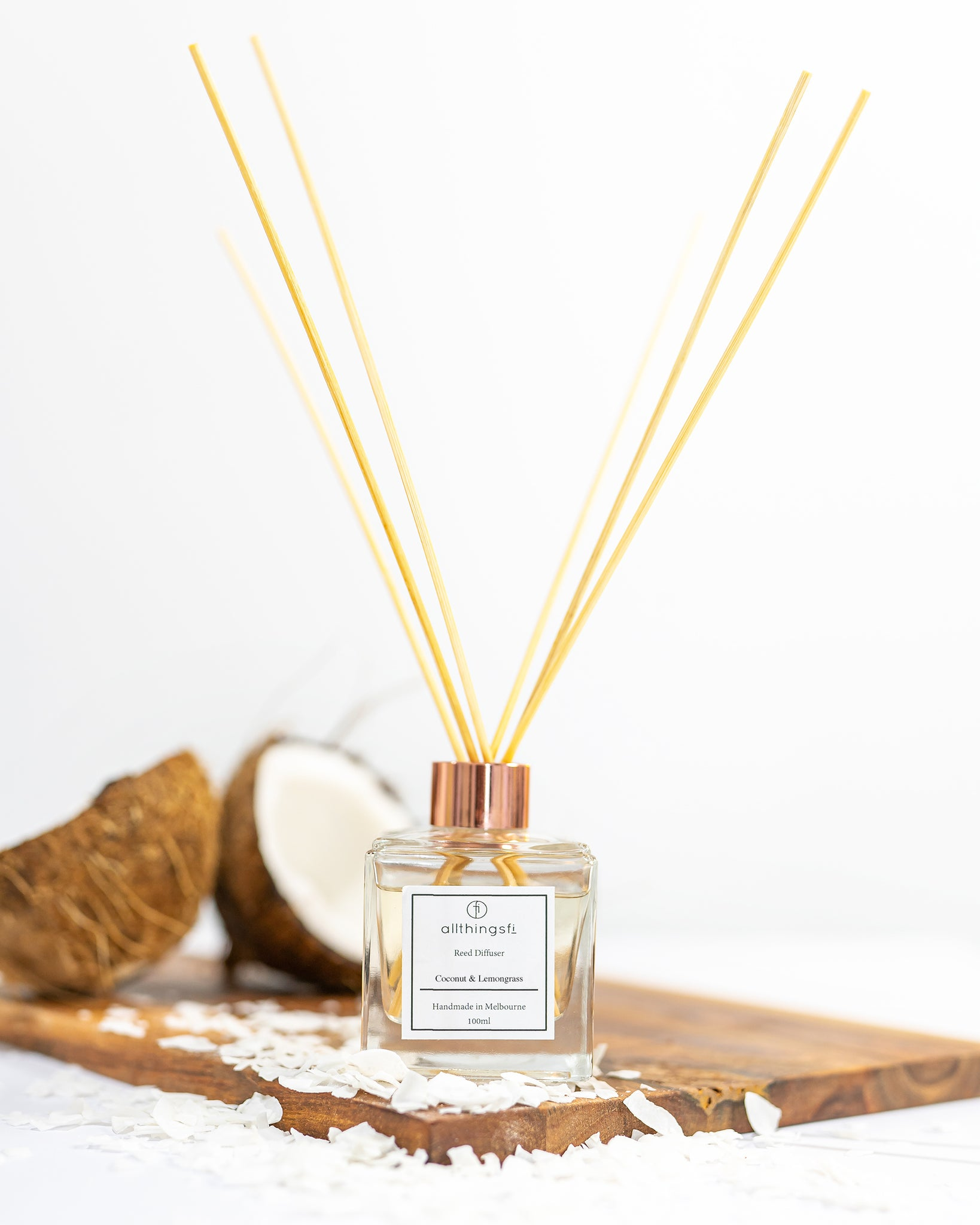 Reed diffuser - Coconut & Lemongrass