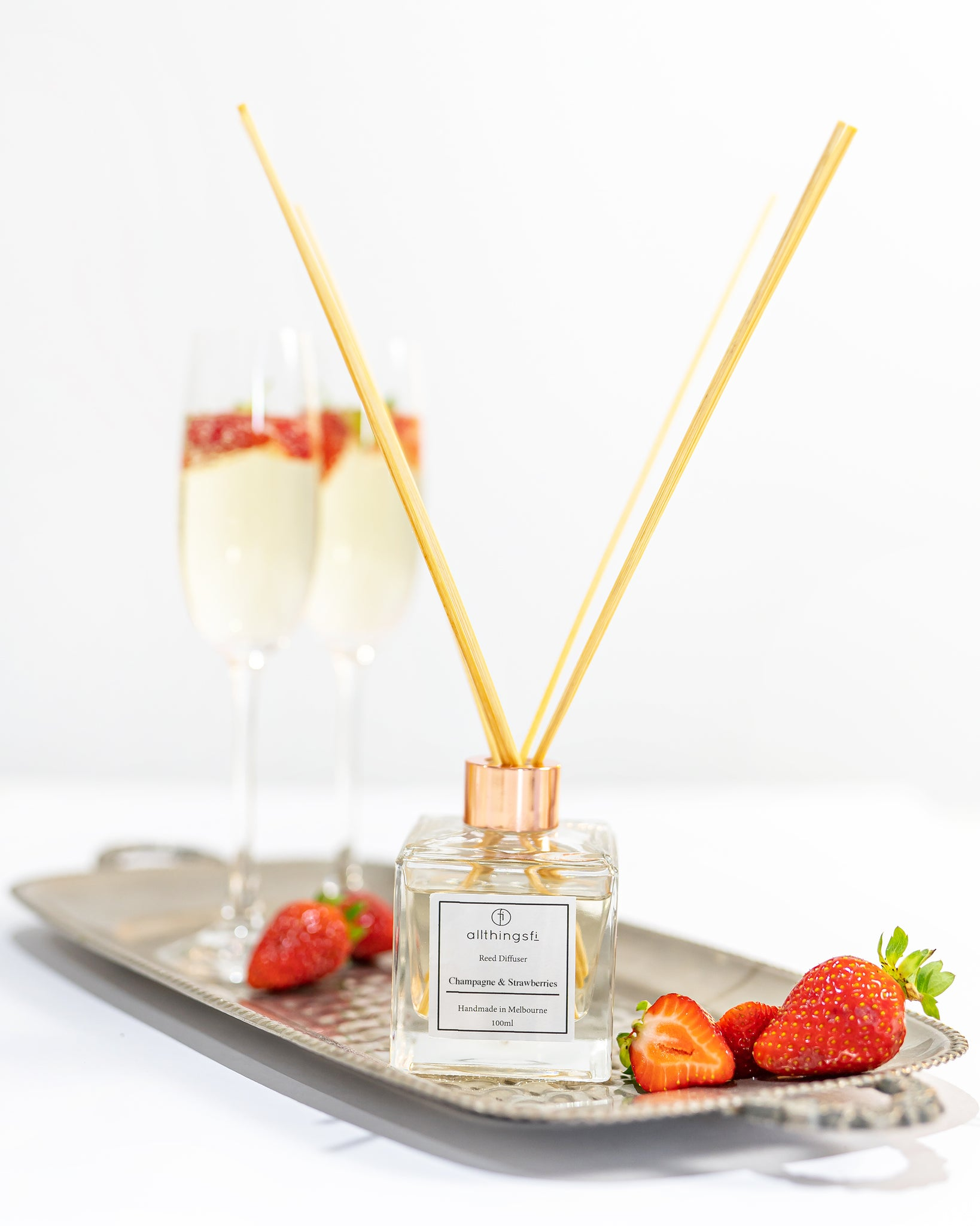 Reed diffuser - Champagne & Strawberries