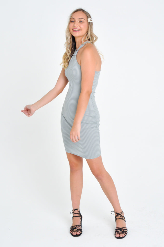 Halter Neck Dress - Silver