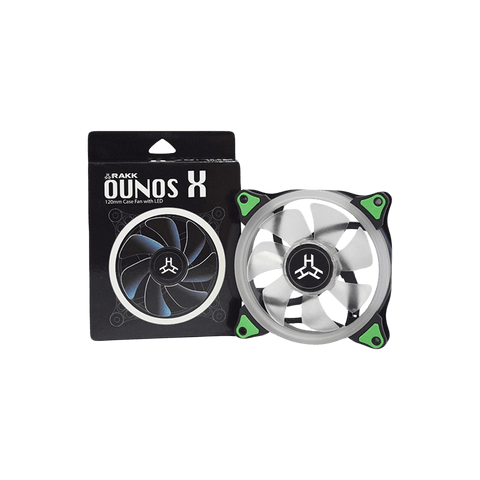 Rakk Ounos 120mm Eclipse Green Led Fan