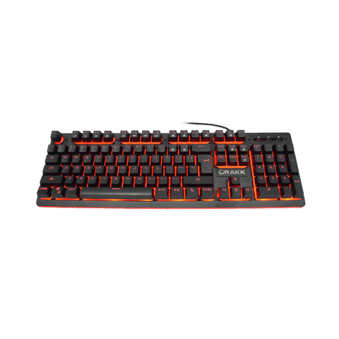 Rakk Mua Illuminated Plunger Gaming Keyboard Red