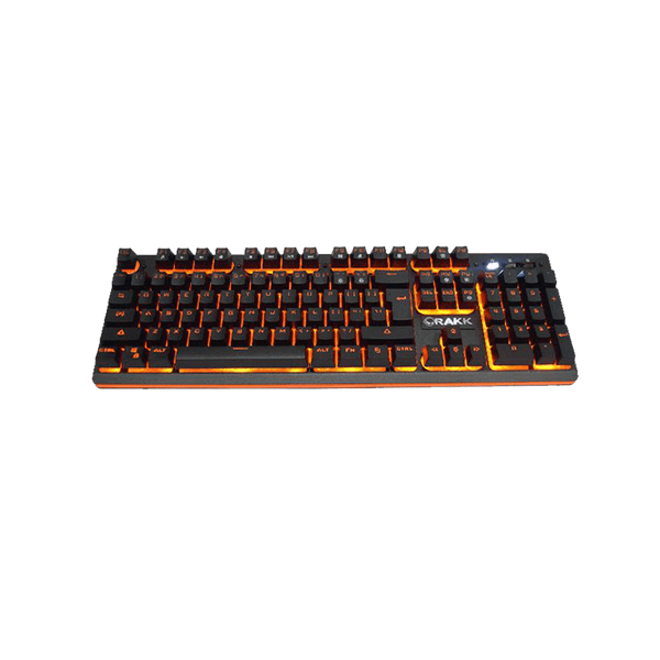 Rakk Mua Illuminated Plunger Gaming Keyboard Orange