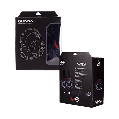 Rakk Guina Illuminated Gaming Headset Red Box