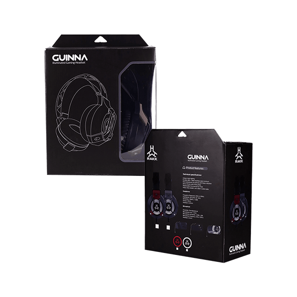 Rakk Guina Illuminated Gaming Headset White Box
