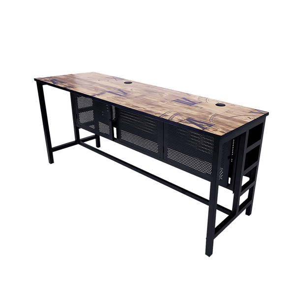 Rakk Icafe Modular DIY Table 2x70CM Black Wood