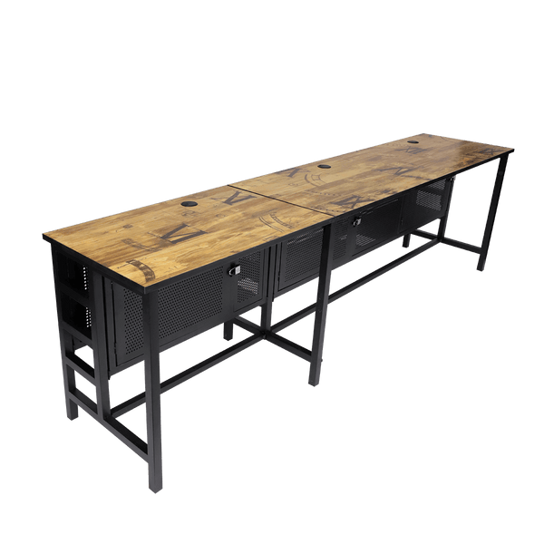 Rakk Icafe Modular DIY Table 3x80CM Black Wood