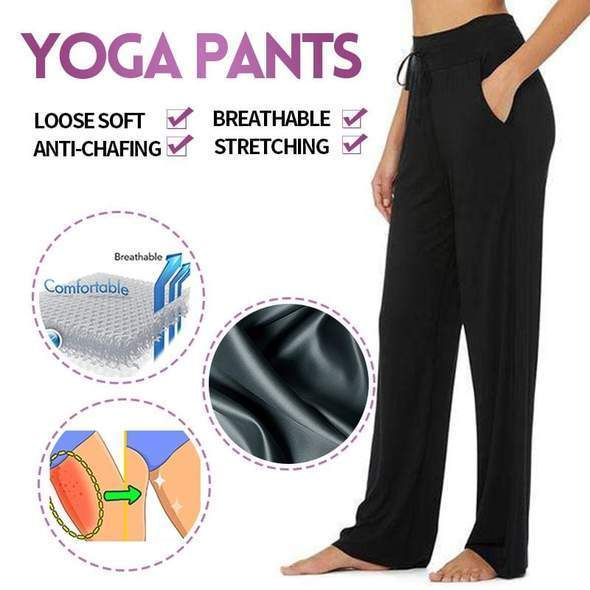 High-rise Drawstring Comfy Yoga Pants