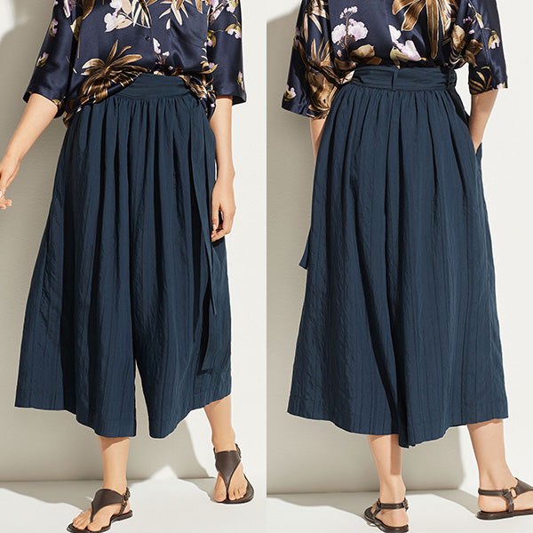 70s Fluid Wide Leg Side Tie Culottes