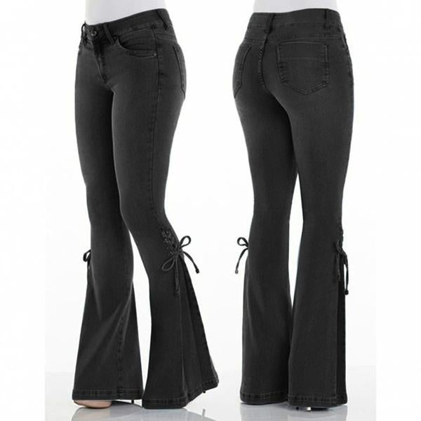 Stretchy Soft Bell Bottoms Jeans