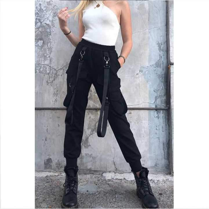 Super Fashion Elasticated Waist Sling Overalls