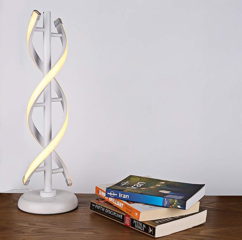 LED Table Lamp, Lampshade Color - Type E White