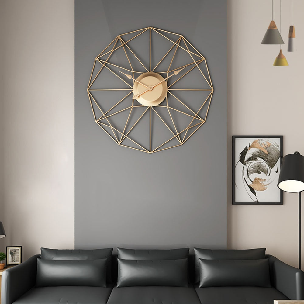 Unique Nordic Iron Hanging Wall Clock