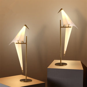 Golden Origami Dove LED Table Lamp