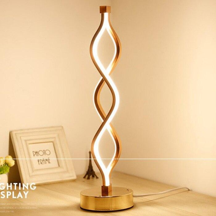 LED Table Lamp, Lampshade Color - Type E Gold