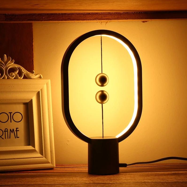 Mini LED Table Lamp - Balance Ellipse (Available in Light and Dark Grey)