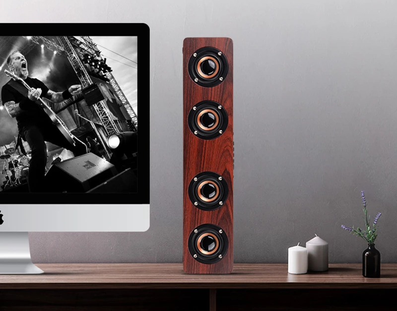 Bluetooth Speaker / Sound Bar in wood finish