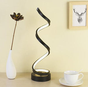 LED Table Lamp, Lampshade Color - Type A Black