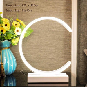 LED Table Lamp, Lampshade Color - Type G White