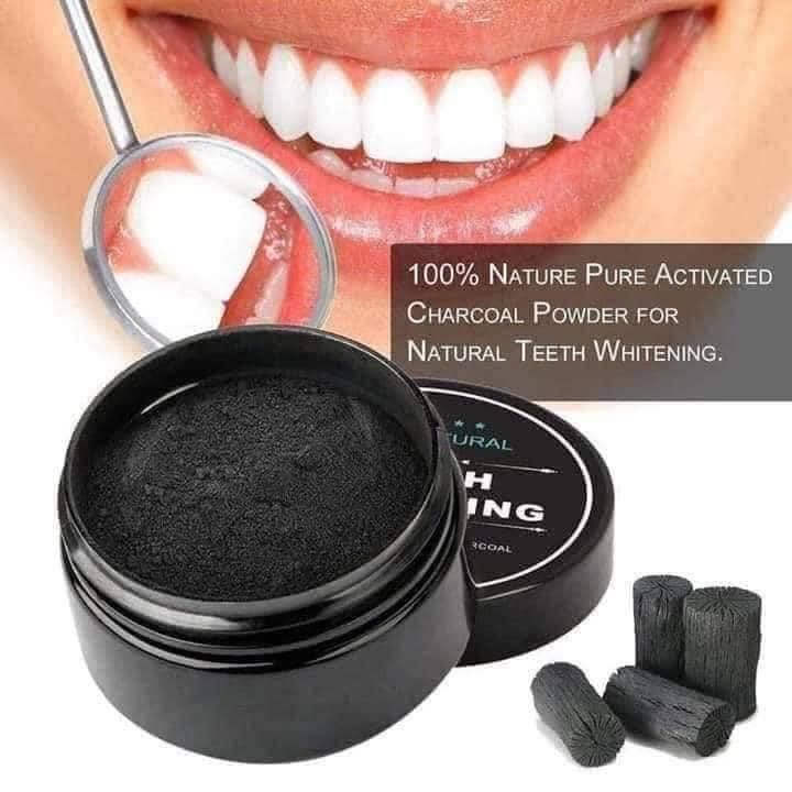 [Buy 1 Get 1] Activated Charcoal Organic Teeth Stain Remover Powder